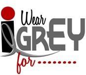 I Wear Grey 32 Brain Cancer Tumor T-Shirts