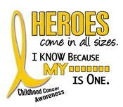 Heroes All Sizes Childhood Cancer T-Shirts