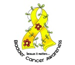 Flower Ribbon Bladder Cancer T-Shirts & Gifts