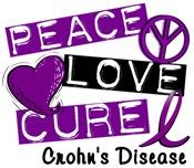PEACE LOVE CURE Crohn's Disease Shirts & Apparel