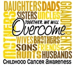 Family Square Childhood Cancer T-Shirts Gifts