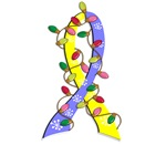 Christmas Lights Ribbon Down Syndrome Gifts