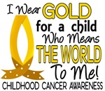 Means World To Me 1 Childhood Cancer Shirts