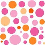 Pink and Orange Dots