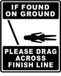 If found on ground, please drag across fin