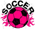 Hot Pink Soccer Flames