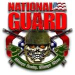 US National Guard Skull and Rifles