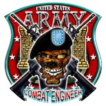 US Army Combat Engineer Shield Skull