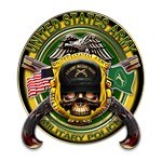 US Army MP Military Police Skull