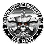 USN Aviation Support Equipment Tech Skull