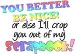 Be Nice - Scrapbooking