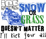 Ice, Snow or Grass - Snowmobile Racing