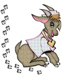 Cute Girl Goat