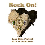 ROCK ON! Love Hike Protect Our Public Lands