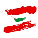 Lebanese Flag Brush Paint