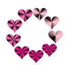 Circle Of Pink Hearts