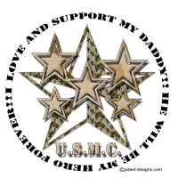 I love and support my Marine Daddy Shirts