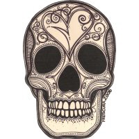 Cráneo con el Corazón Quebrado