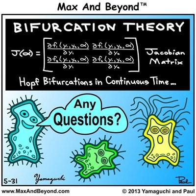 Cartoon: Amoebas & Bifurcation Theory