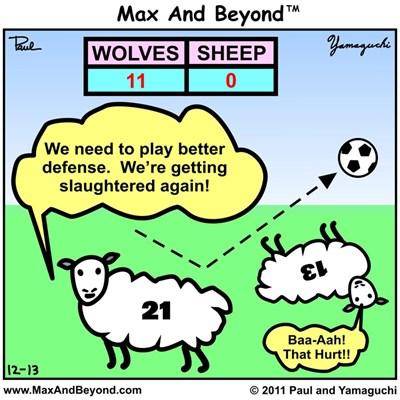 Cartoon: Wolves vs. Sheep