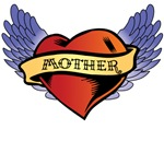 Winged Heart Mother Tattoo T-Shirts