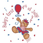 Baby's 1st 4th of July T-Shirts