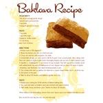 Baklava Recipe T-Shirts
