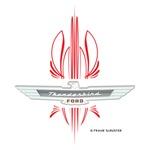 T Bird Emblem with Pinstripes