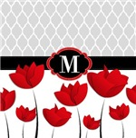 Red Tulips Quatrefoil