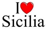 I Love (Heart) Sicilia, Italy