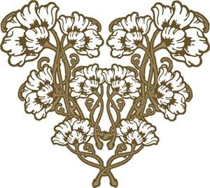 Floral Art Nouveau Motif