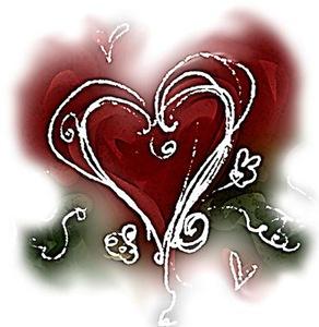 Dark Scribbly Heart
