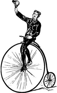 Vintage Gent On Bicycle
