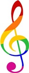 Rainbow Music G Clef