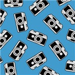 Cute Retro Camera Pattern