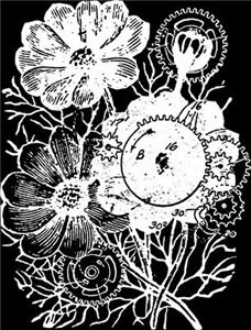 Flowers And Gears White