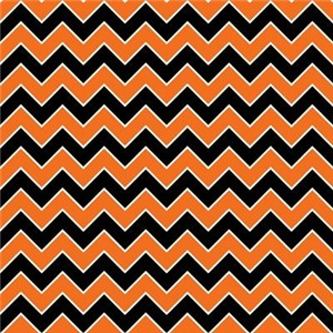 Halloween Chevron Stripe Pattern