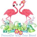 Personalized Flamingo Couple