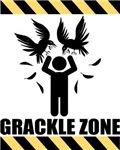 Grackle Zone Warning T-shirts