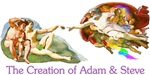 Creation of Adam And Steve T-shirts & Gifts