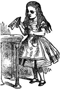 Vintage Alice Drink Me
