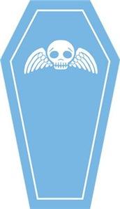 Cute Blue Coffin