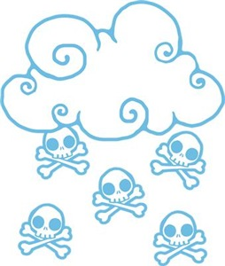Cute Skull Raincloud