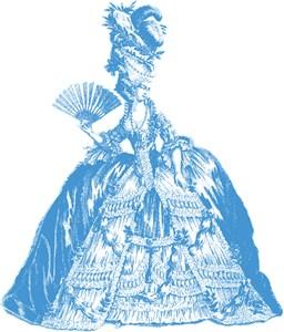 18th Century Lady Blue