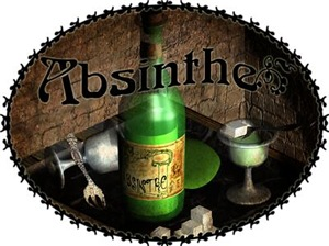 Absinthe Still Life On Tray