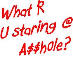 What R U staring @?
