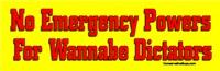 No Emergency Powers