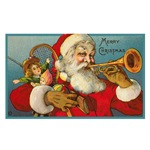 Merry Christmas Santa - Horn Playing Santa