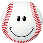 Baseball Smiley Face