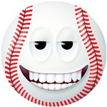 Baseball 2 Smiley Face